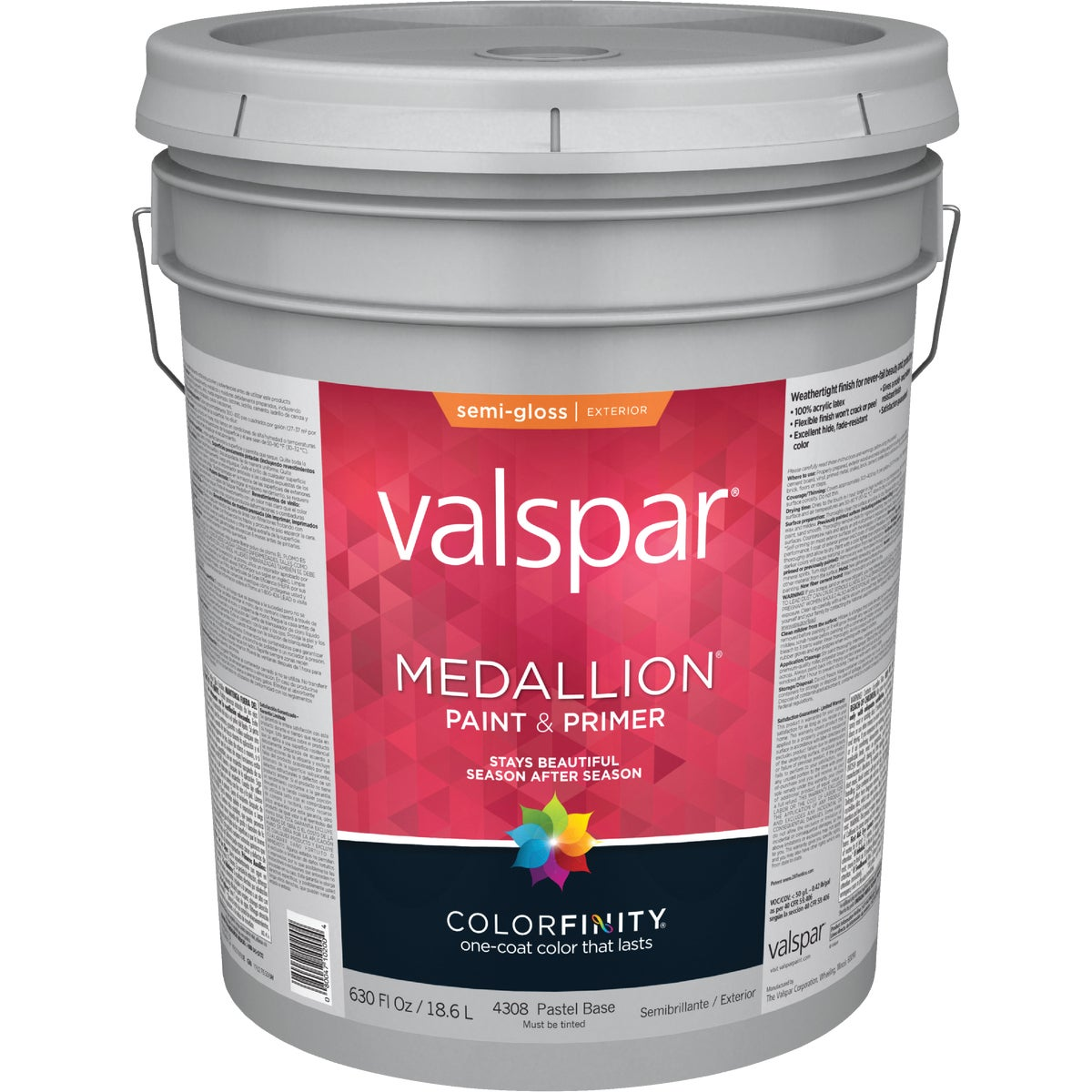EXT S/G PASTEL BS PAINT - 027.0004308.008 by Valspar Corp