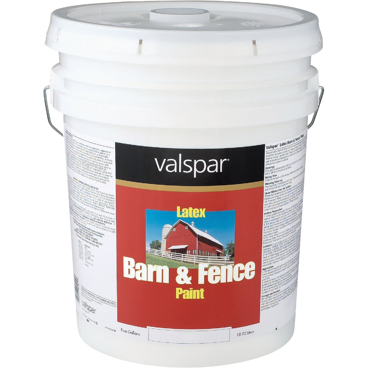LTX FLAT RED BARN PAINT - 018.3125-10.008 by Valspar Corp