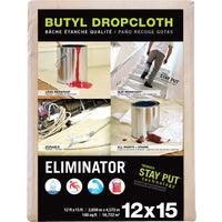 Trimaco Eliminator Butyl-Back Canvas Drop Cloth, 80322