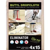 Trimaco Eliminator Butyl-Back Canvas Drop Cloth, 80328