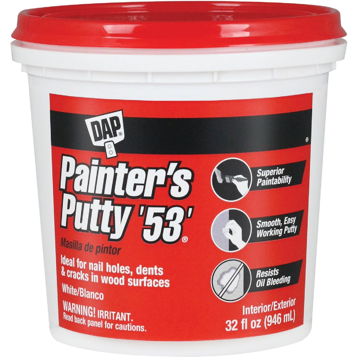 WHITE PAINTER'S PUTTY - 12244 by Dap Inc
