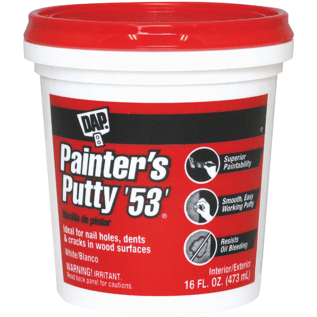 WHITE PAINTER'S PUTTY