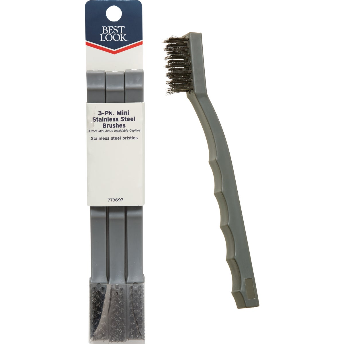 3PK MINI SS BRUSH - 46650 by Hyde Mfg Co