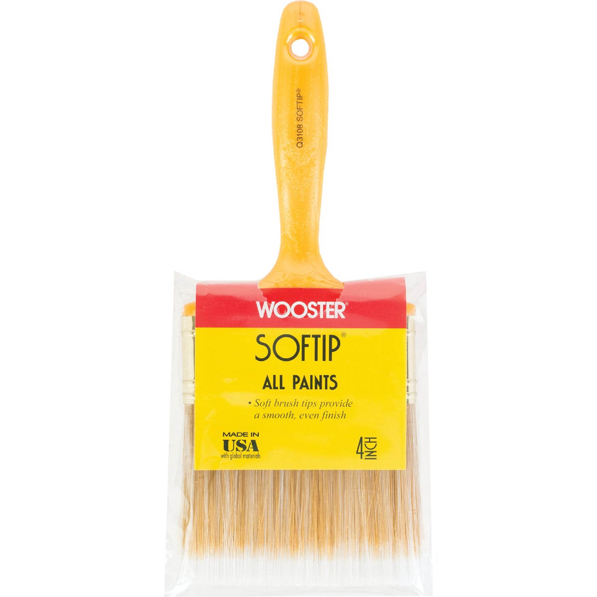 "4"" SOFTIP BRUSH - Q3108-4"" by Wooster Brush Co"
