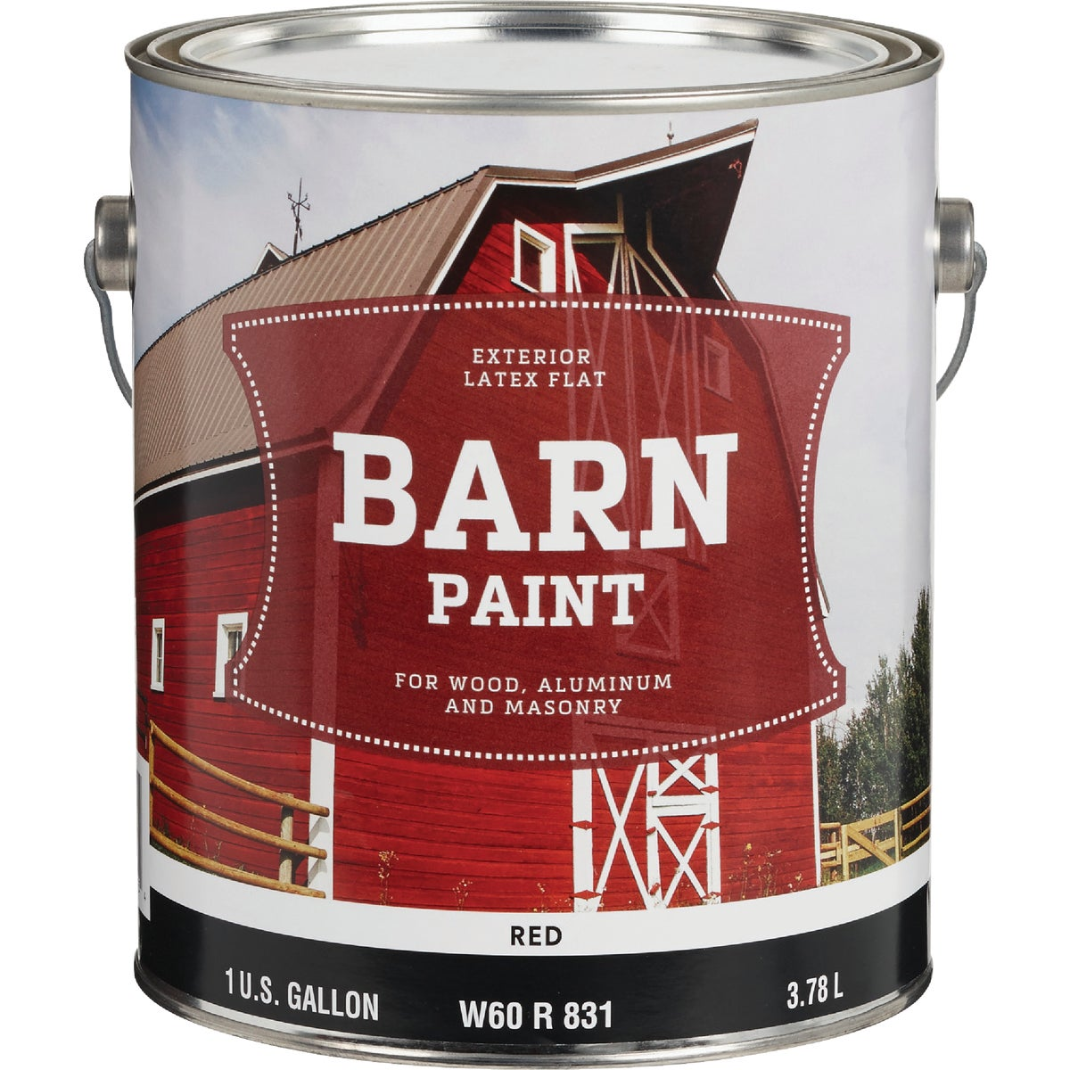 FLAT LTX RED BARN PAINT - W60R00732-16 by Do it Best