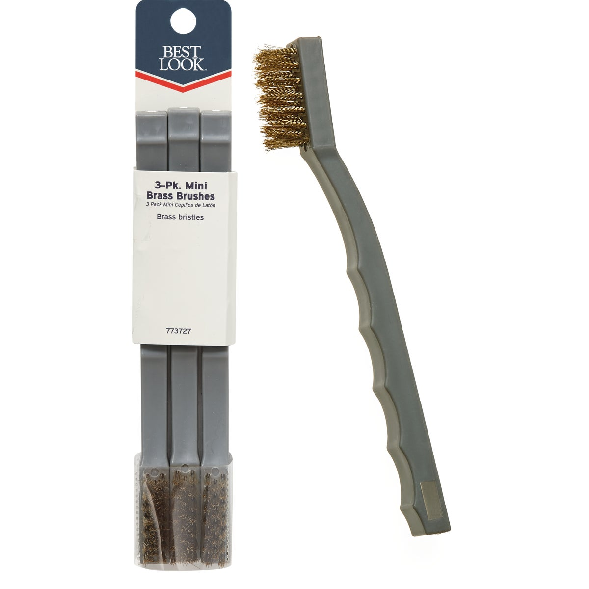 Hyde Mfg. 3PK MINI BRASS BRUSH 46630