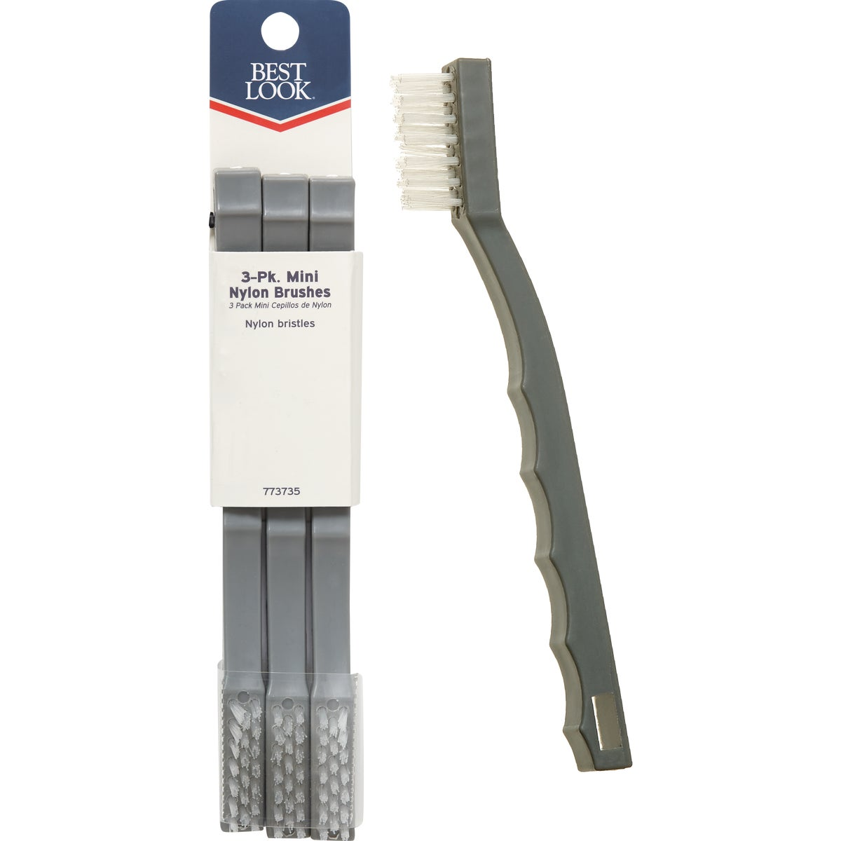 Hyde Mfg. 3PK MINI NYLON BRUSH 46640