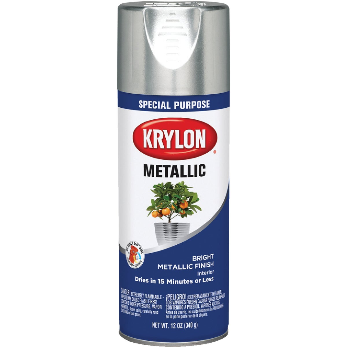 BRGHT SILVER SPRAY PAINT - 1401 by Krylon/consumer Div