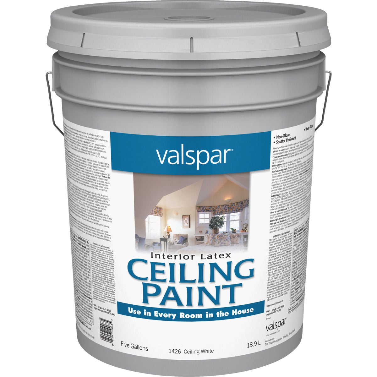 INT WHITE CEILING PAINT - 027.0001426.008 by Valspar Corp
