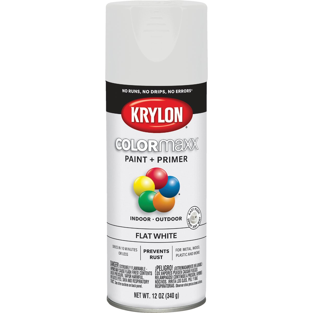FLAT WHITE SPRAY PAINT - 51502 by Krylon/consumer Div