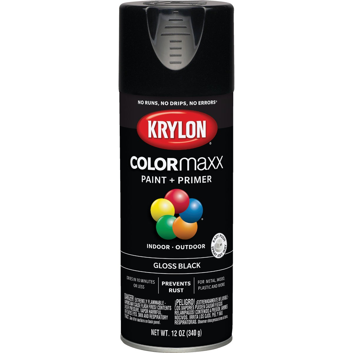GLOSS BLACK SPRAY PAINT - 51601 by Krylon/consumer Div