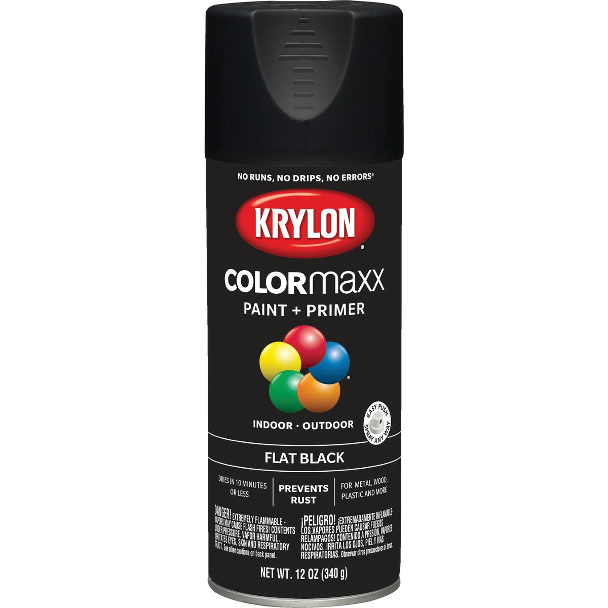 FLAT BLACK SPRAY PAINT - 51602 by Krylon/consumer Div