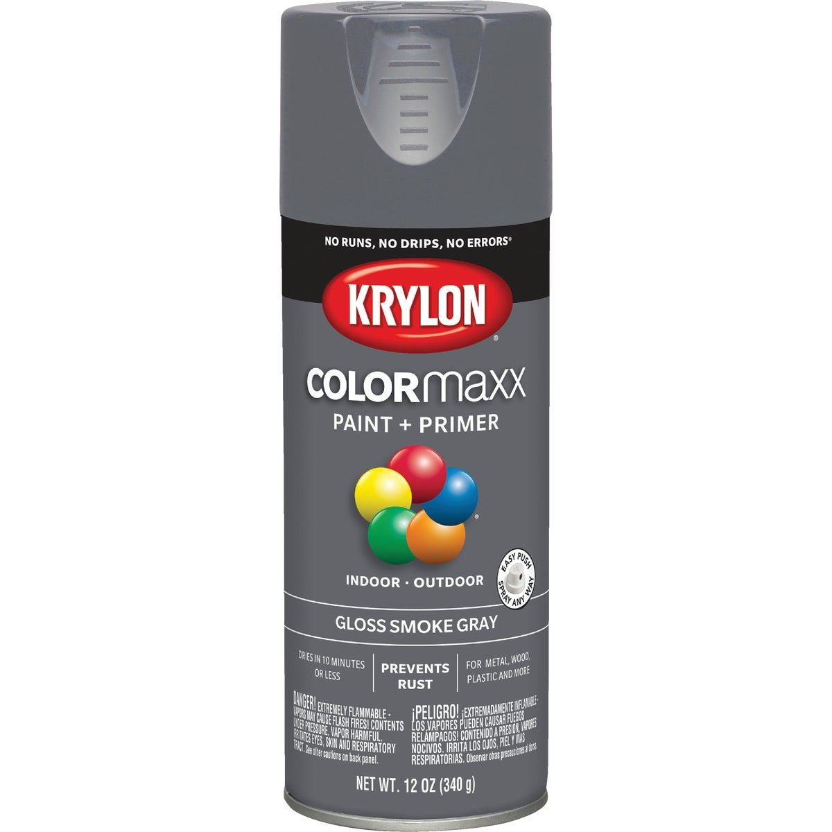 GLS SMK GRAY SPRAY PAINT - 51608 by Krylon/consumer Div