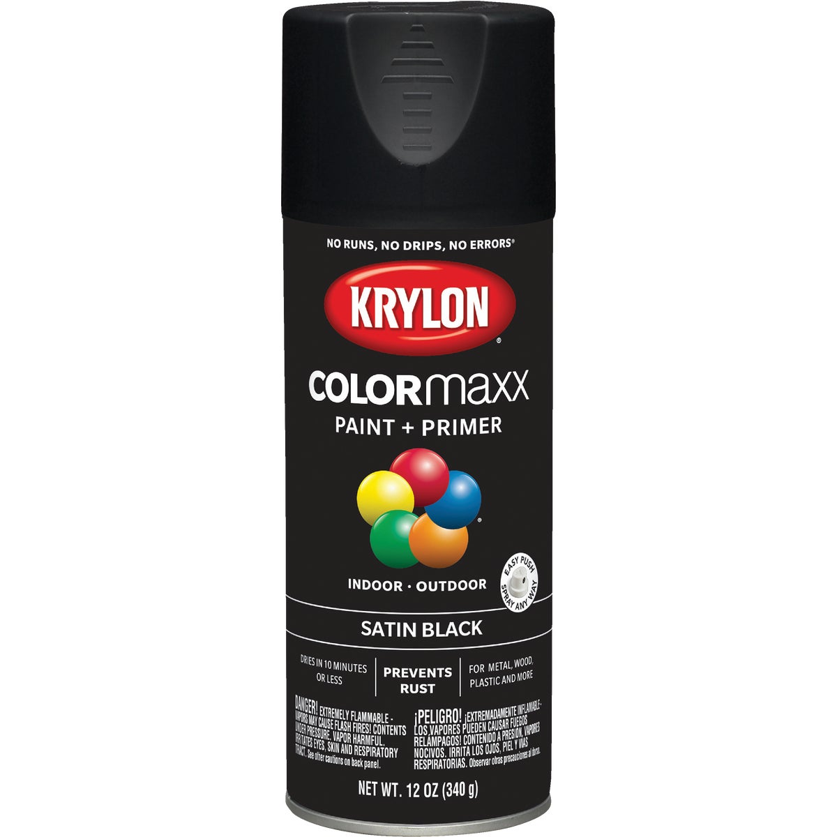 SATIN BLACK SPRAY PAINT - 51613 by Krylon/consumer Div