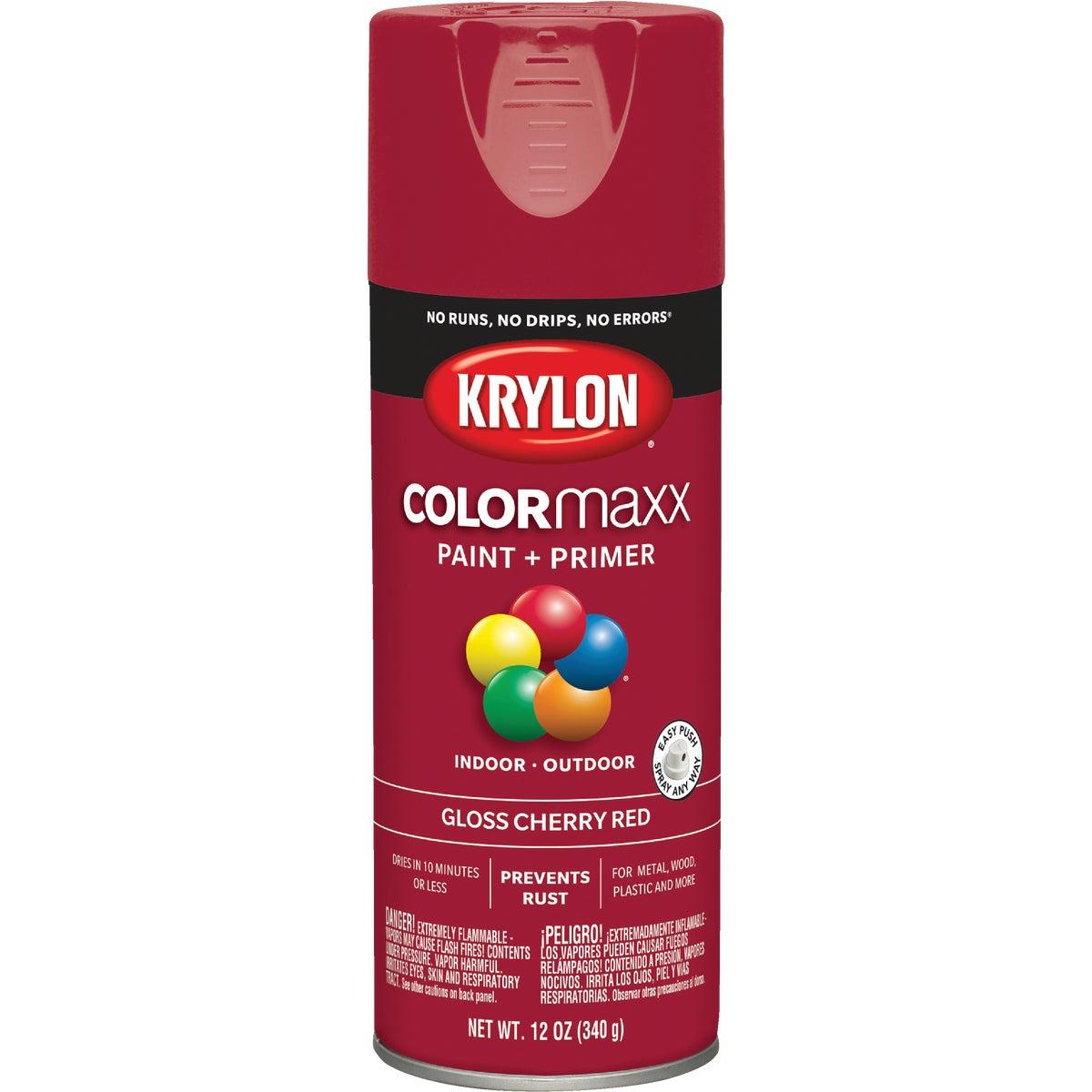 Krylon 52101 Cherry Red Interior and Exterior Decorator Paint - 12 oz. Aerosol