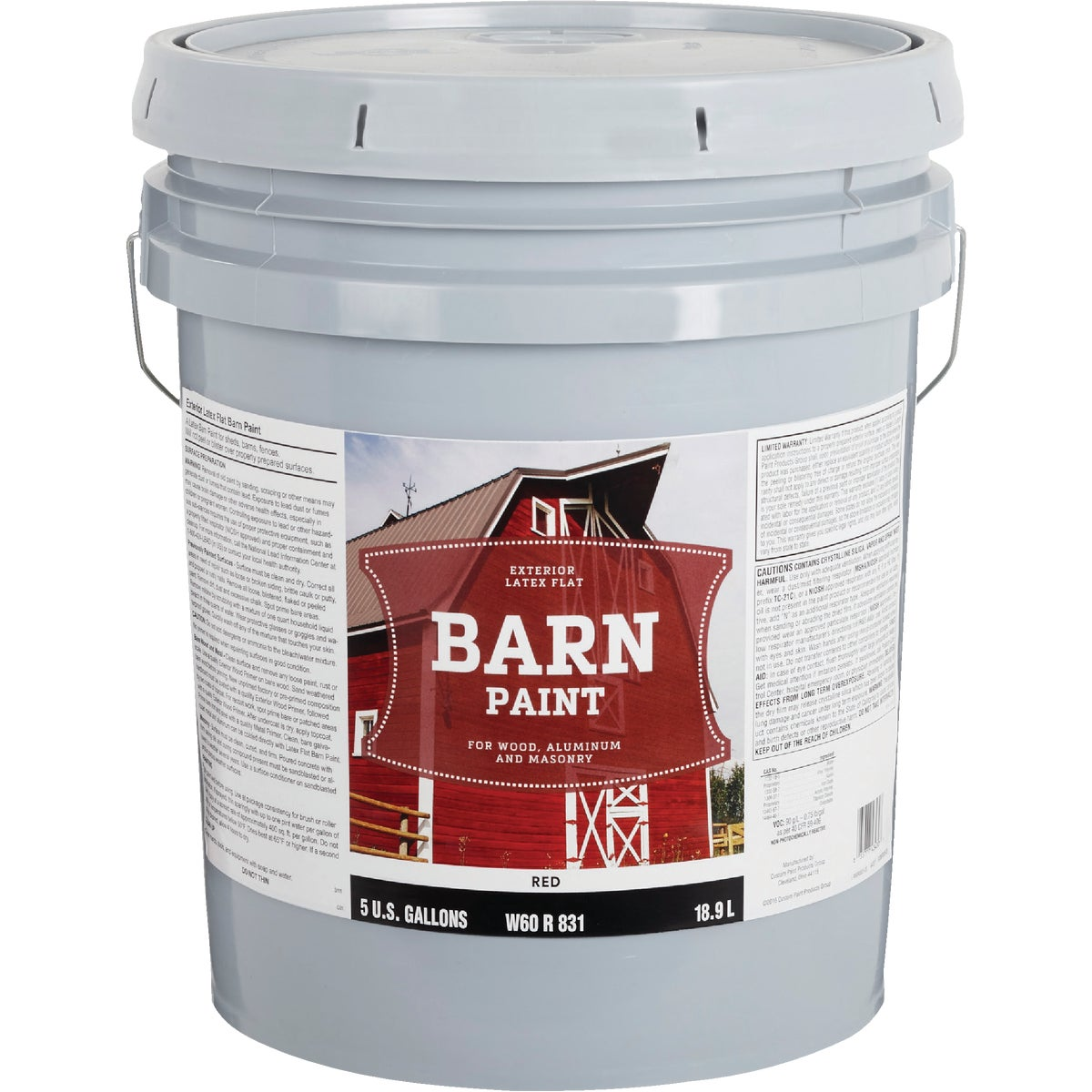FLAT LTX RED BARN PAINT