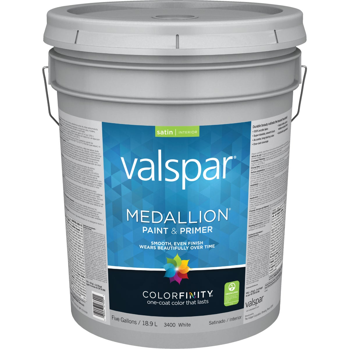 5GAL INT SAT WHITE PAINT - 027.0003400.008 by Valspar Corp