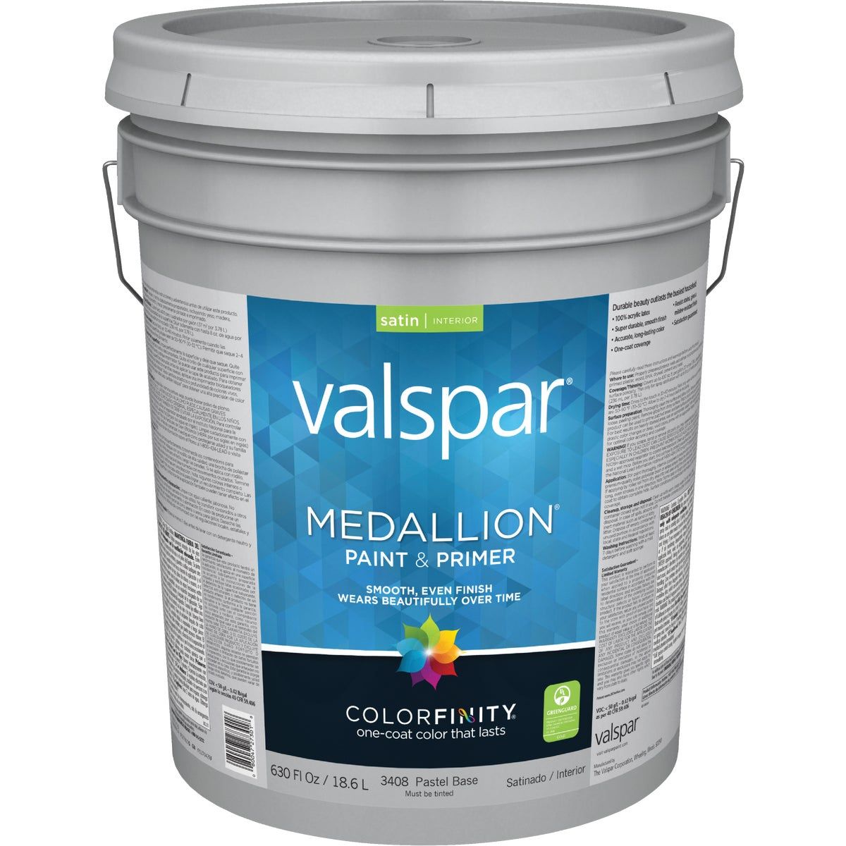 5GAL INT SATN PSTL PAINT - 027.0003408.008 by Valspar Corp