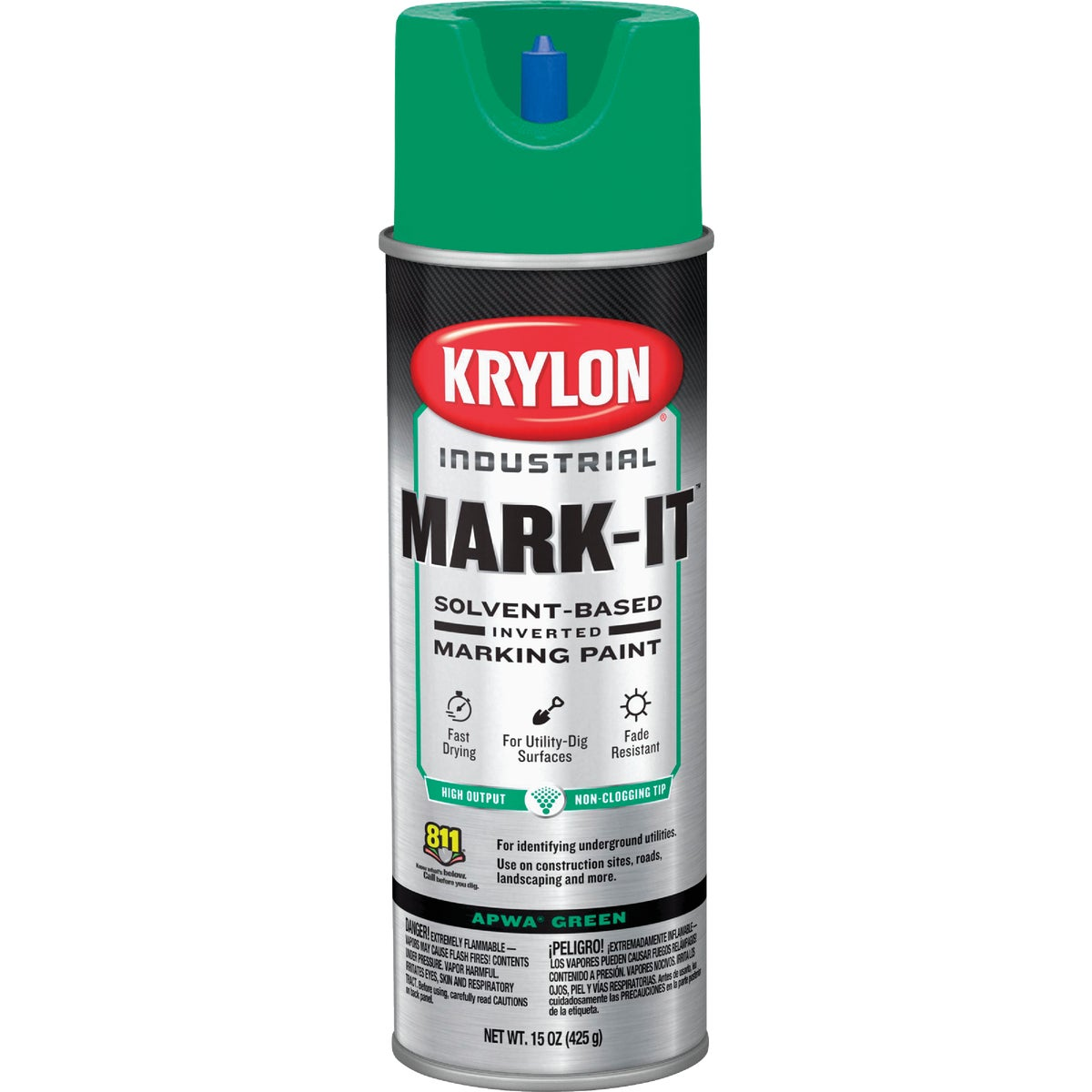 APWA GREEN MARKING PAINT - 7304 by Krylon/consumer Div