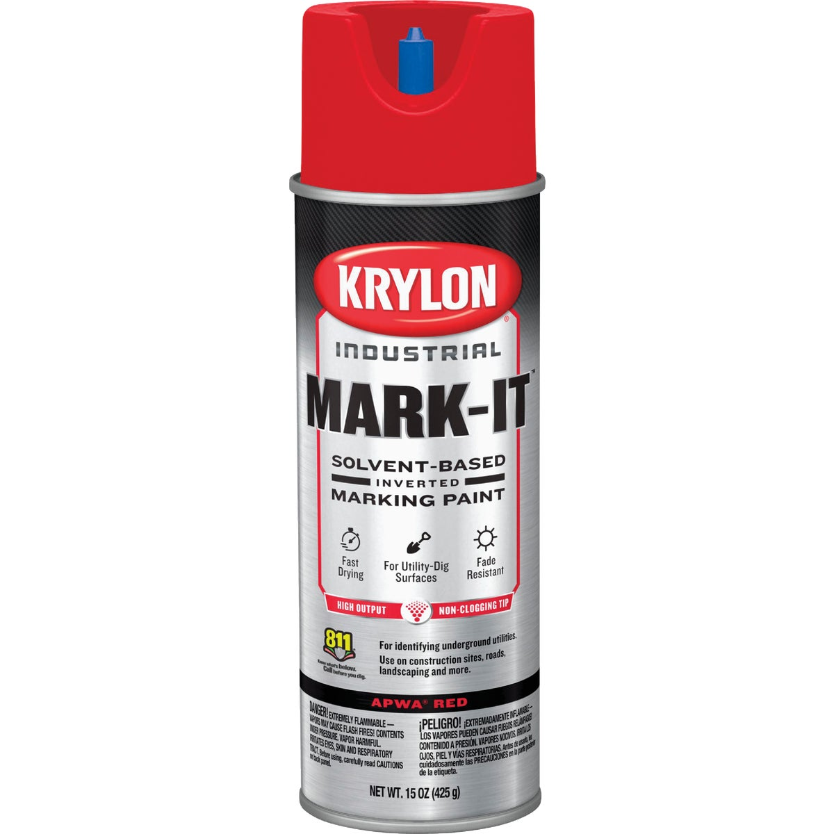 APWA RED MARKING PAINT - 7302 by Krylon/consumer Div