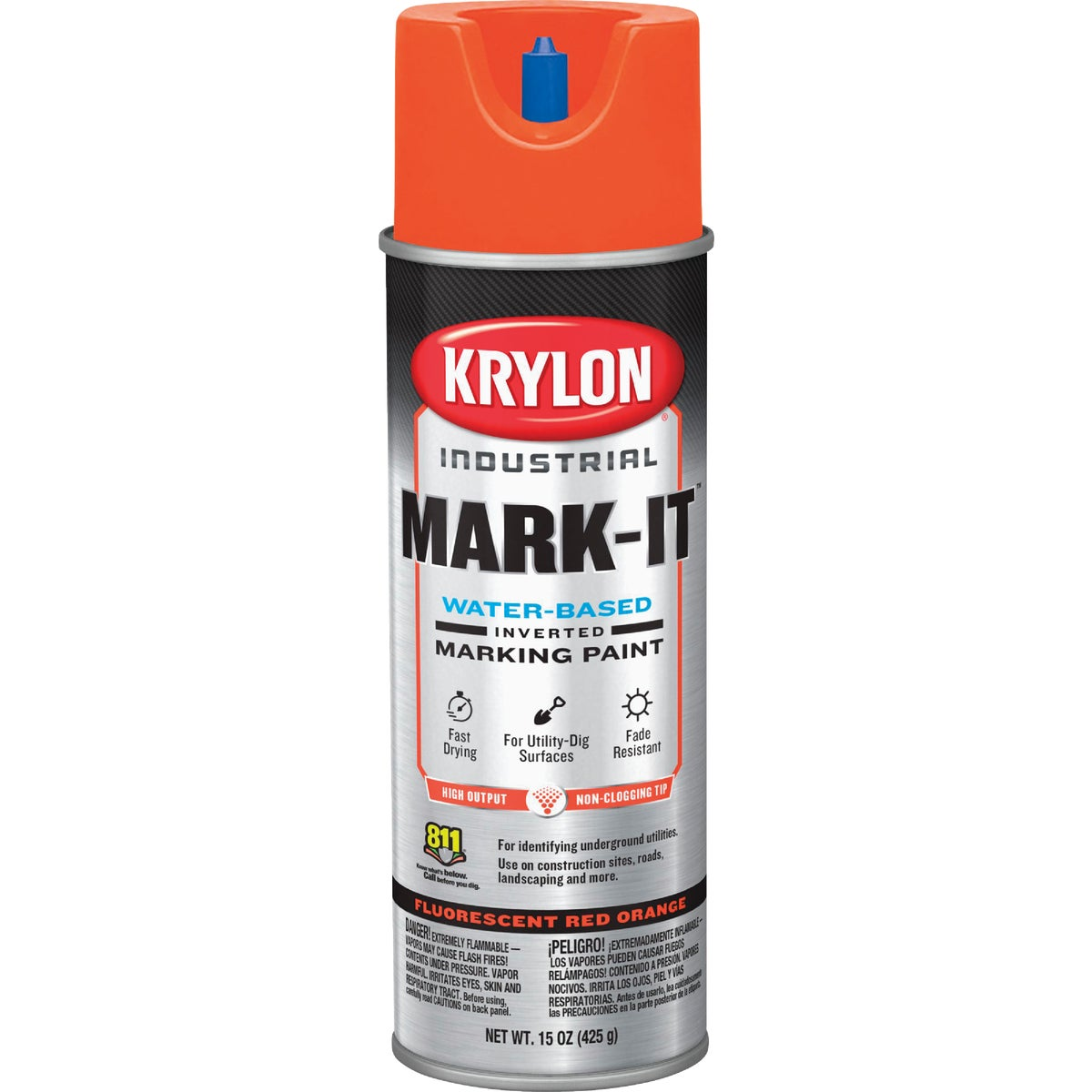 FL RD/ORNG MARKING PAINT - 7321 by Krylon/consumer Div