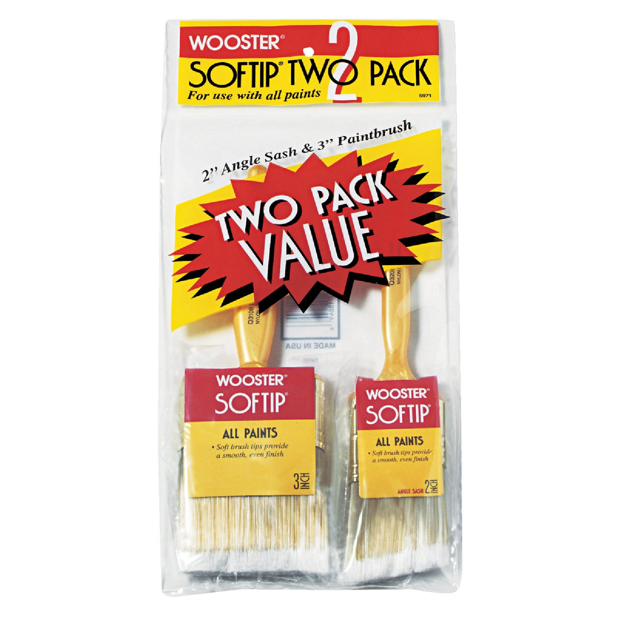 2PK SOFTIP BRUSH SET - 5971 by Wooster Brush Co