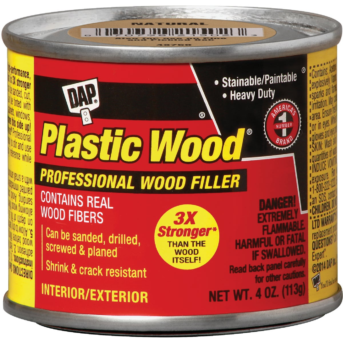4OZ LT OAK PLASTIC WOOD - 21400 by Dap Inc