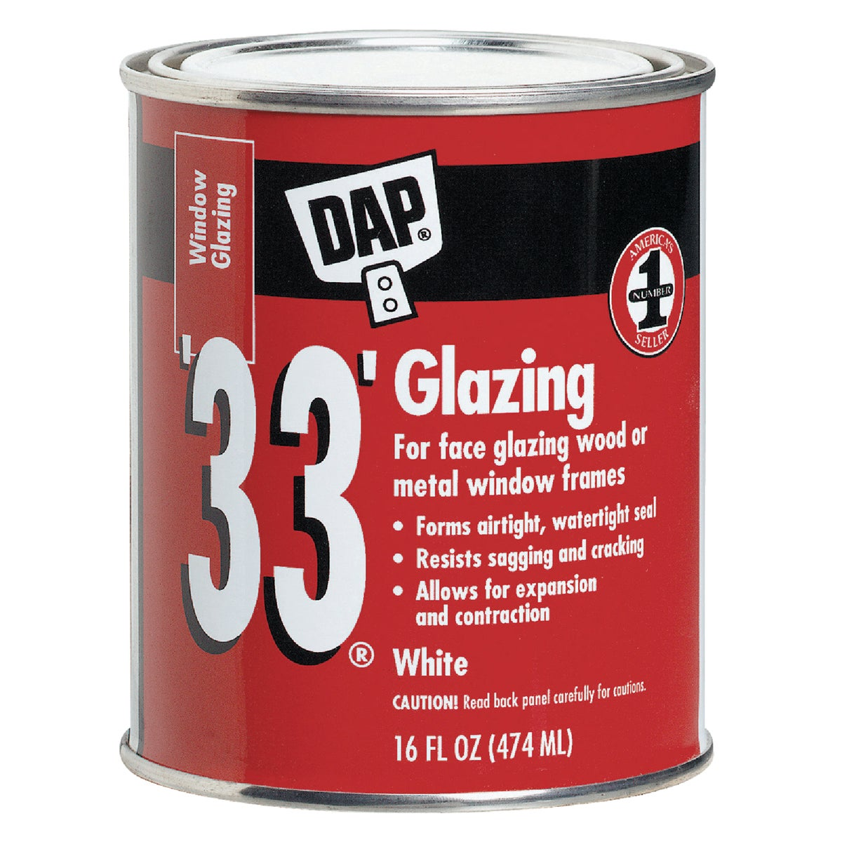 PT WHT GLAZING COMPOUND - 12121 by Dap Inc