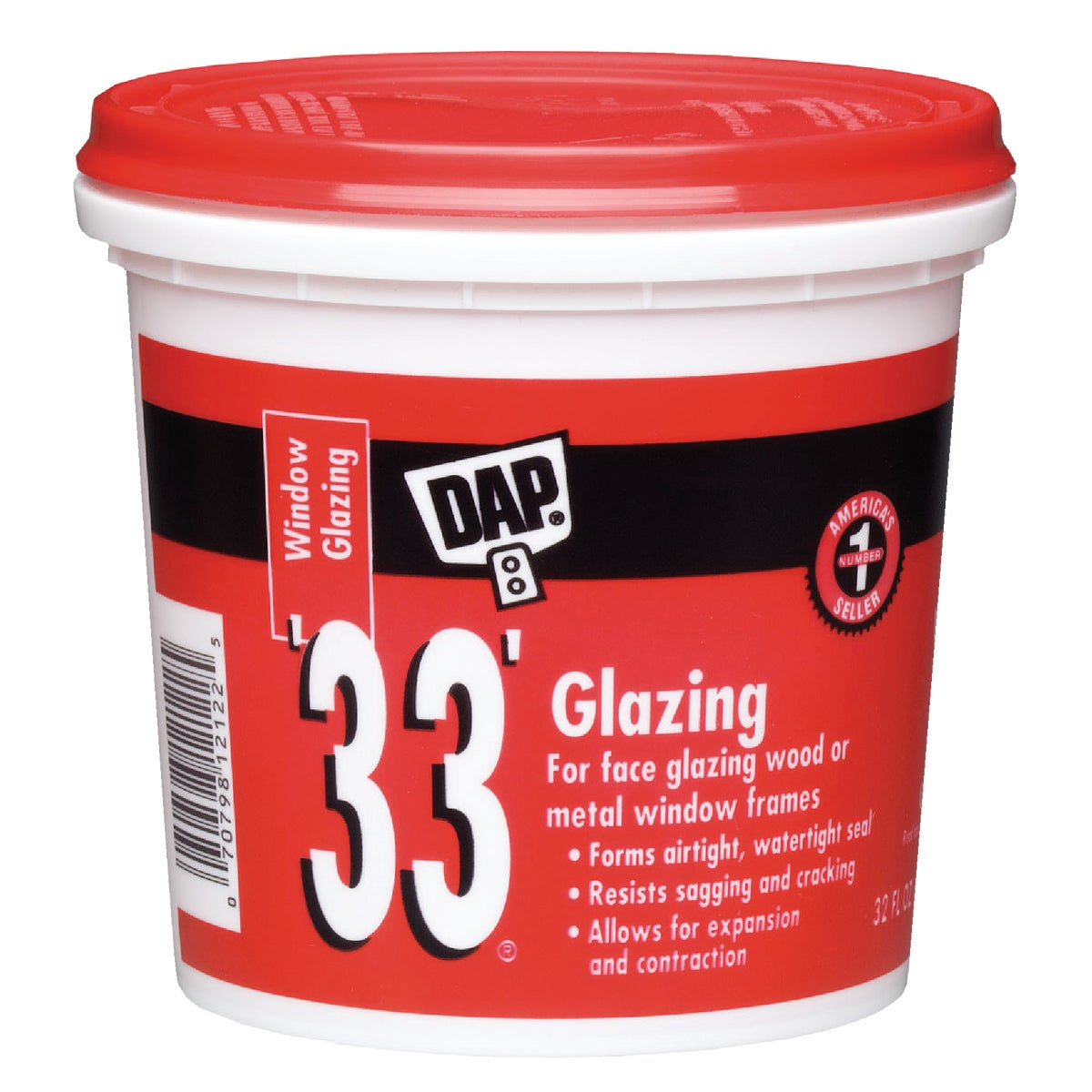 QT WHT GLAZING COMPOUND - 12122 by Dap Inc