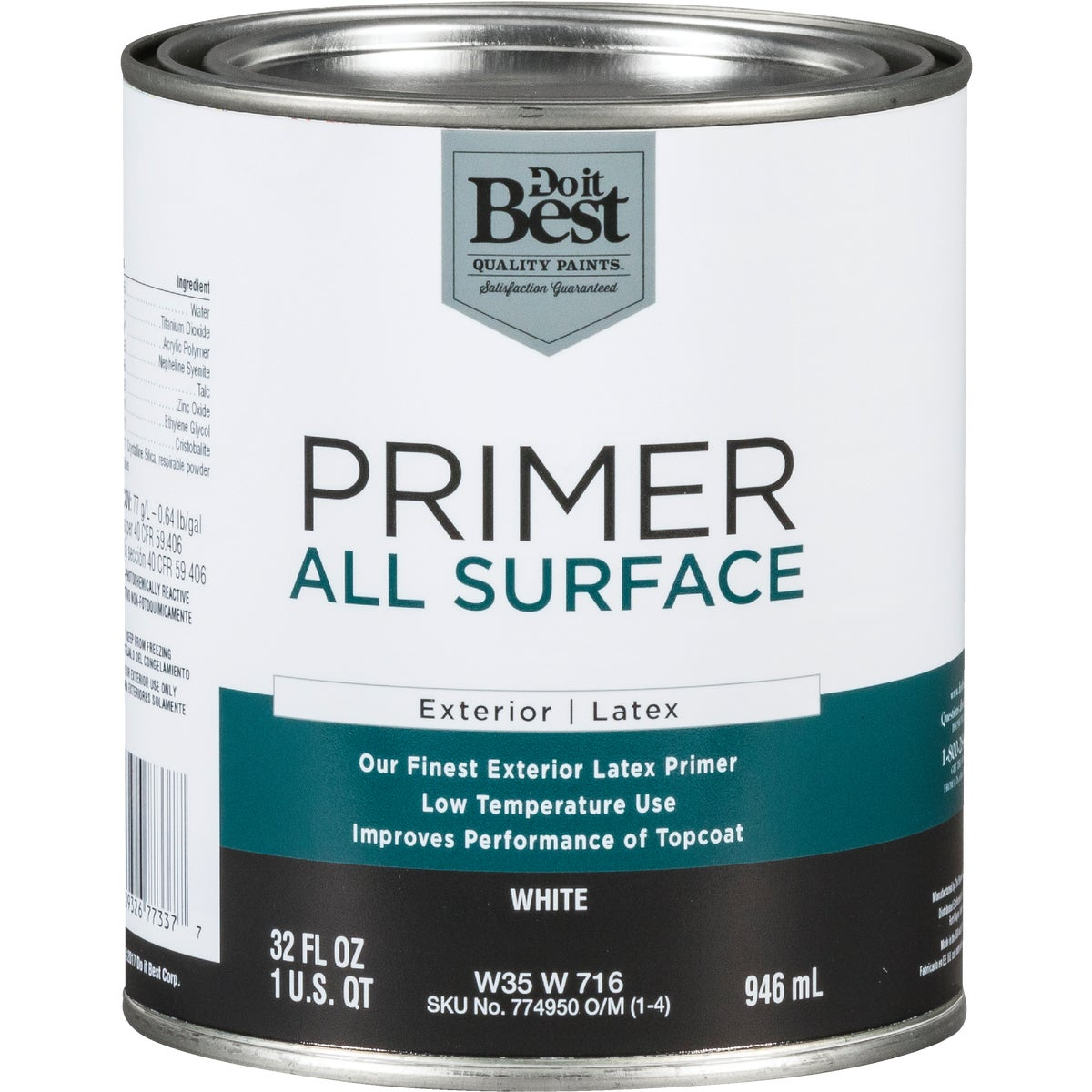 EXT WHITE LATEX PRIMER - W35W00716-44 by Do it Best