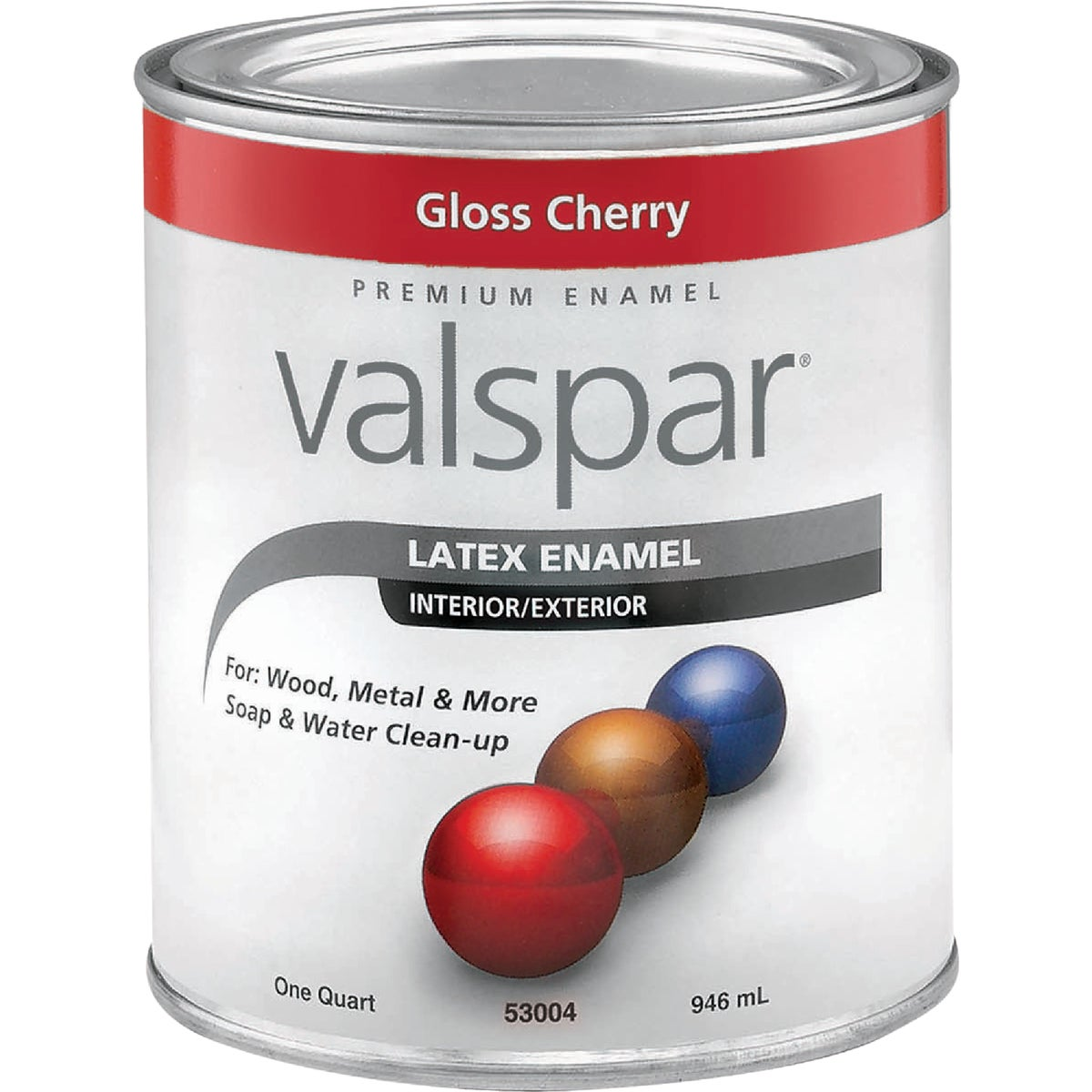 LTX GLOSS CHERRY ENAMEL - 410.0065014.005 by Valspar Corp