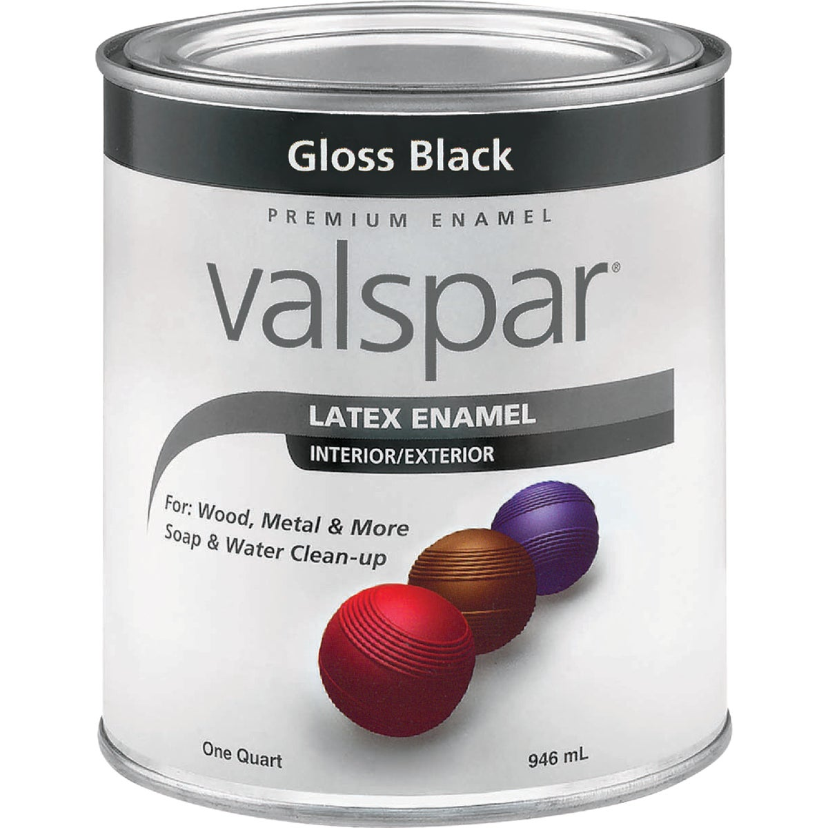 LTX GLOSS BLACK ENAMEL - 410.0065048.005 by Valspar Corp