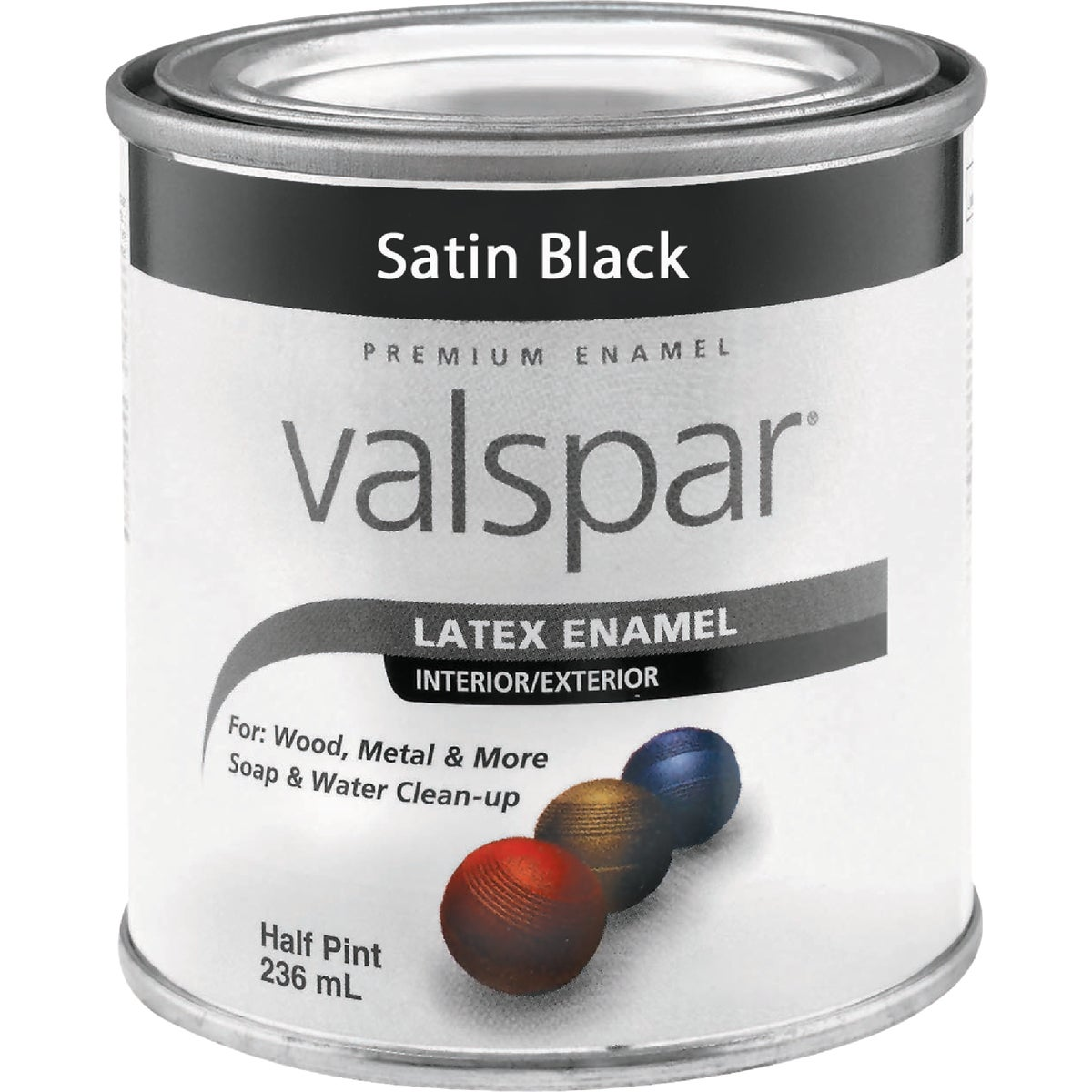 LTX SATIN BLACK ENAMEL - 410.0065049.003 by Valspar Corp