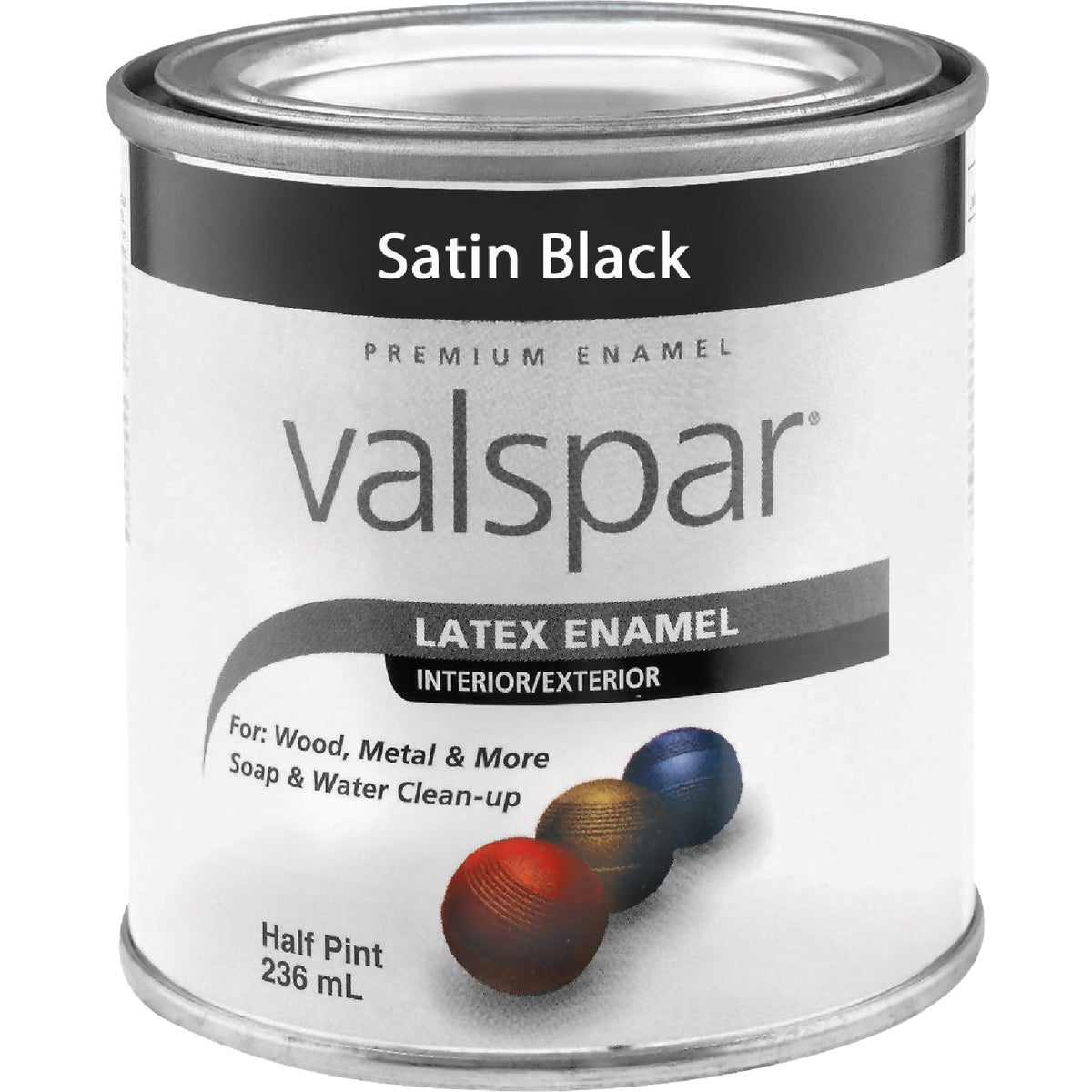 LTX SATIN BLACK ENAMEL - 410.0065049.005 by Valspar Corp