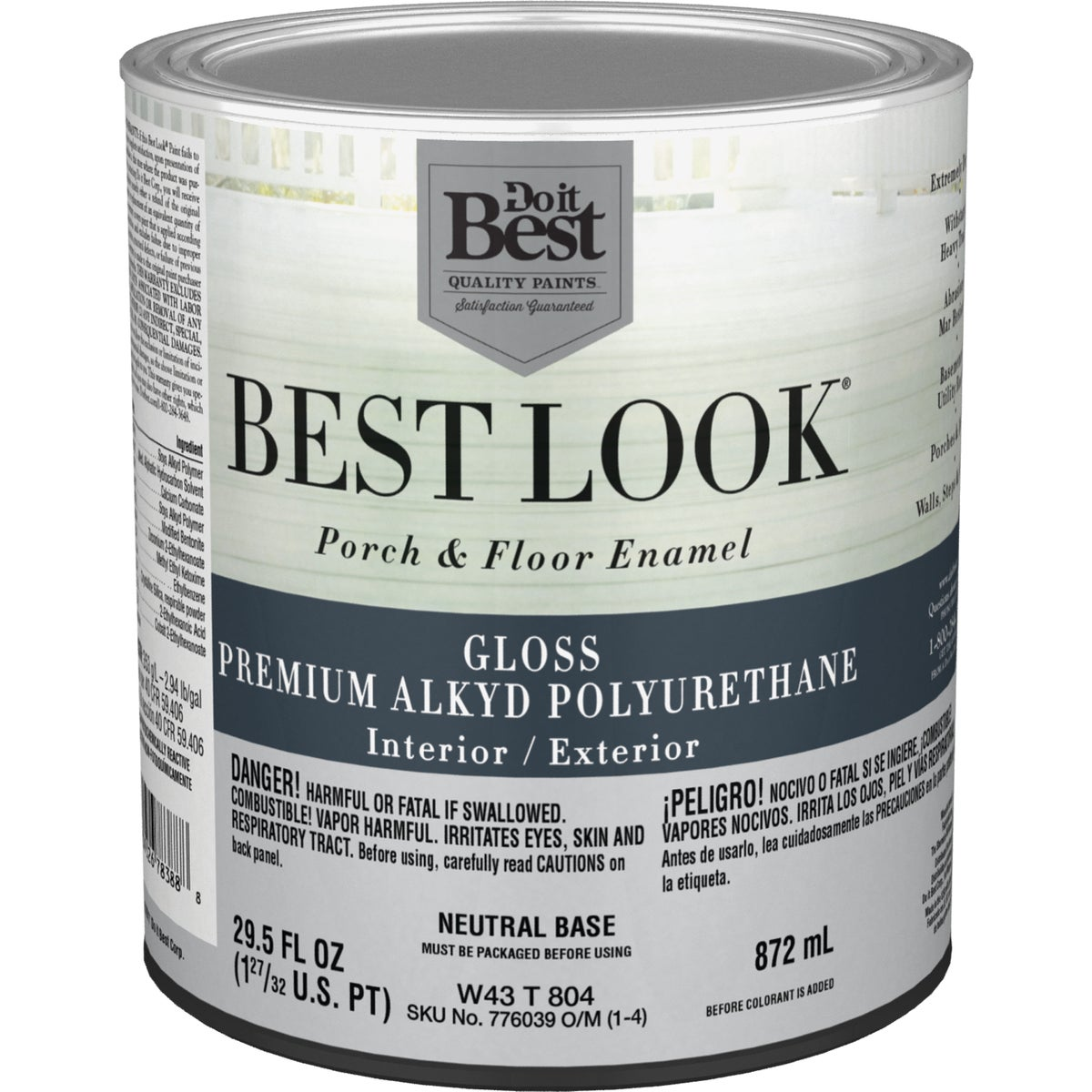 NEUT BS POLY FLOOR PAINT - W43T00804-44 by Do it Best