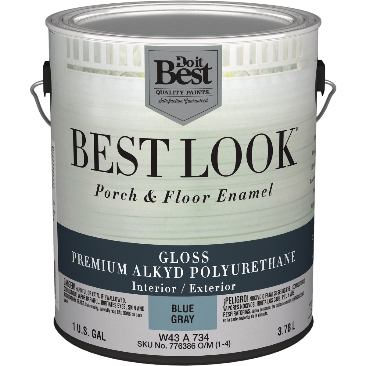 BL GRAY POLY FLOOR PAINT - W43A00734-16 by Do it Best