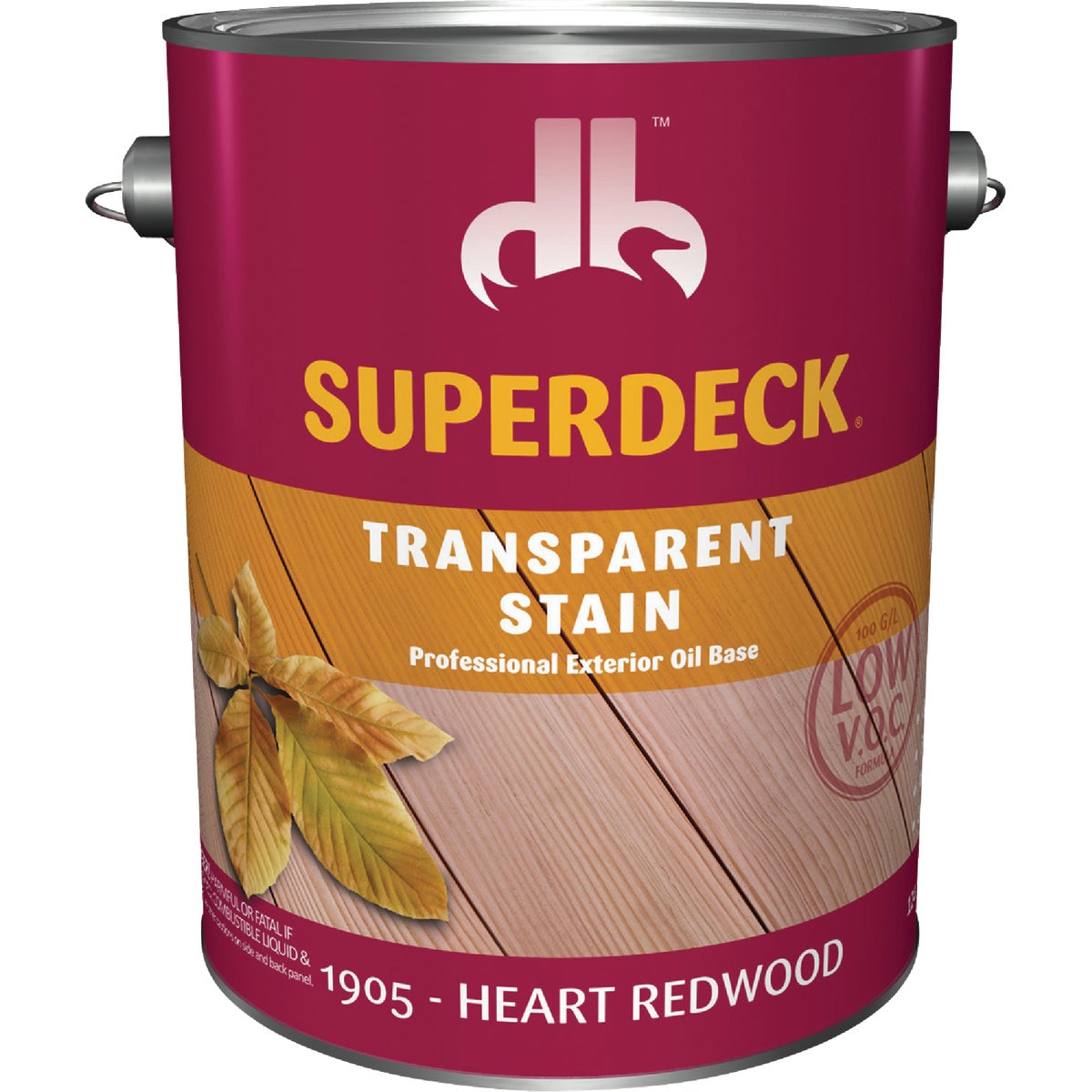 HEART RDWOOD TRANS STAIN