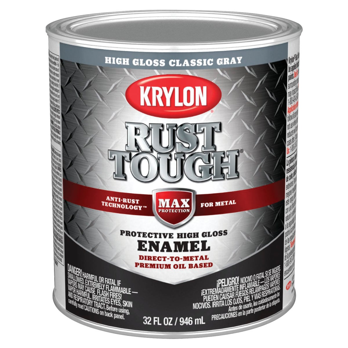 GLOSS GRAY RUST ENAMEL - 044.0021834.005 by Valspar Corp