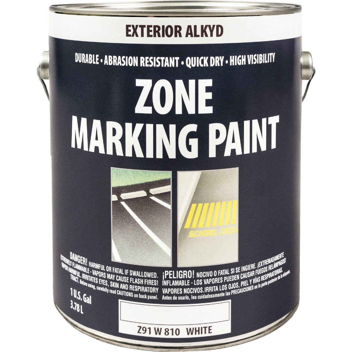 WHT ALKYD TRAFFIC PAINT