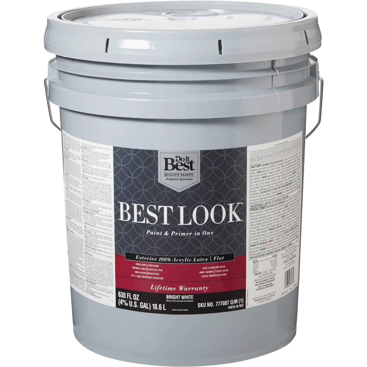 EXT FLT BRIGHT WHT PAINT - HW35W0950-20 by Do it Best