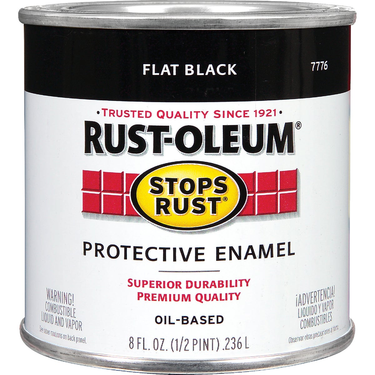 FLAT BLACK ENAMEL - 7776-730 by Rustoleum