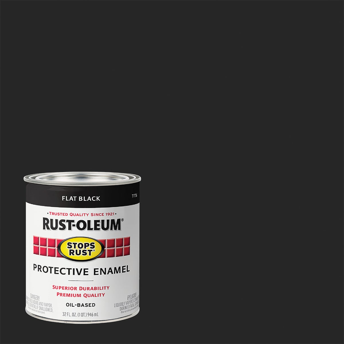 FLAT BLACK ENAMEL - 7776-502 by Rustoleum