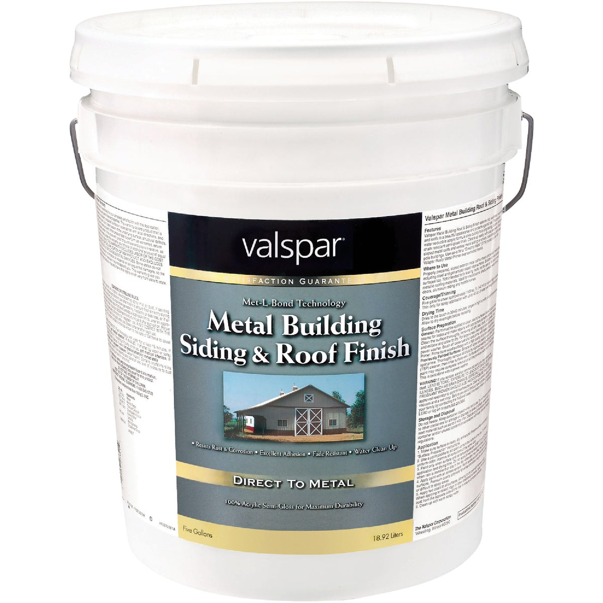 LTX BRT WHITE ROOF PAINT - 027.0004260.008 by Valspar Corp