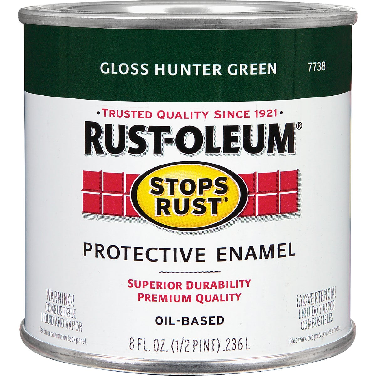 Rust Oleum HUNTER GREEN ENAMEL 7738-730