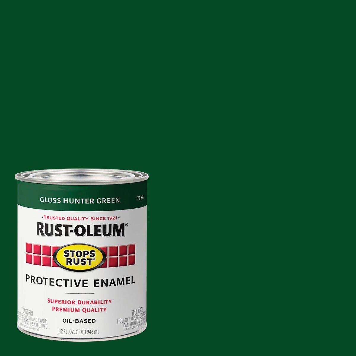 Rust Oleum HUNTER GREEN ENAMEL 7738-502