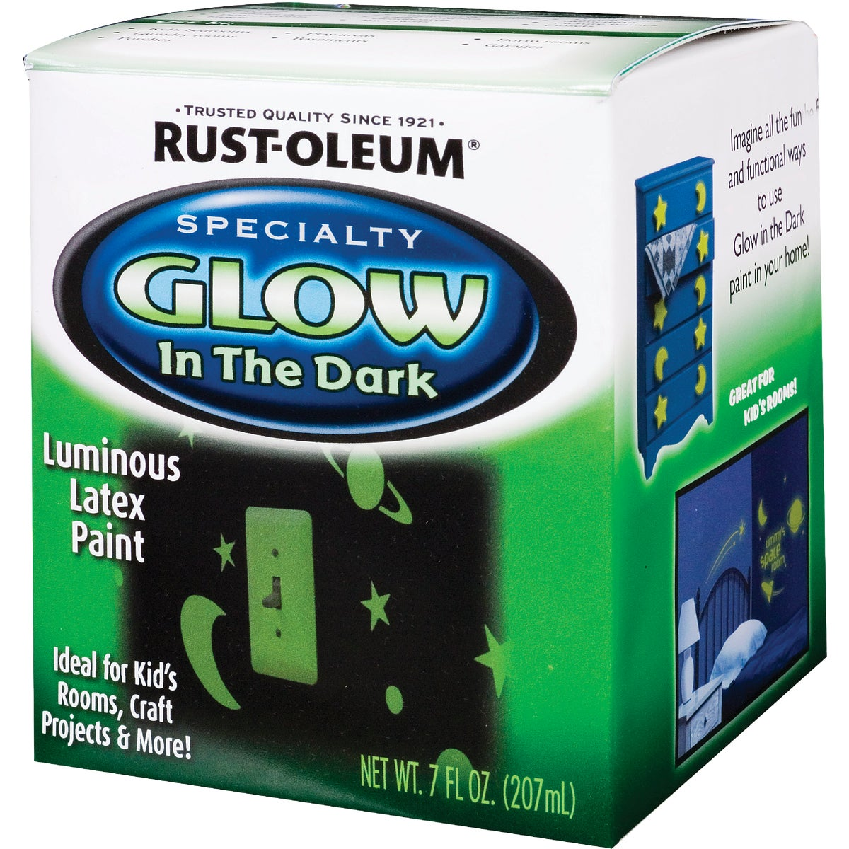 Rust Oleum 7OZ GLOW IN DARK PAINT 214945
