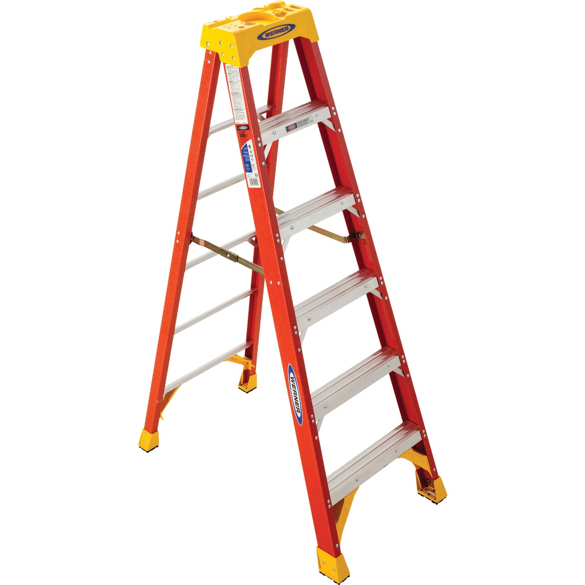 T-1A 6' FBGL STEPLADDER - 6206 by Werner Co