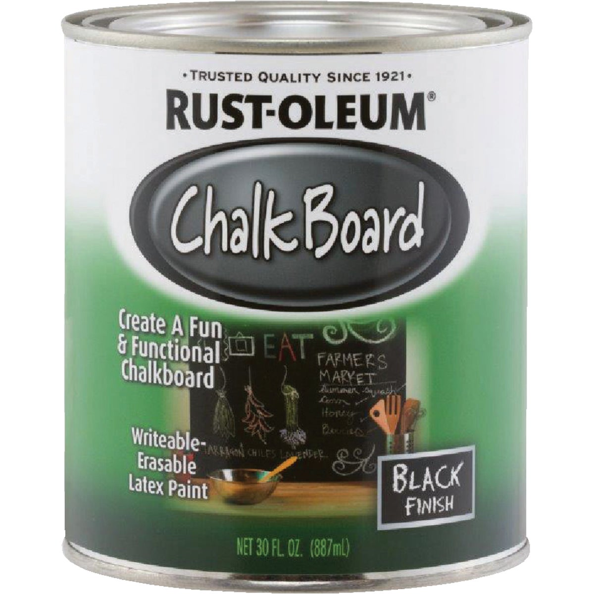 BLACK CHALKBOARD FINISH