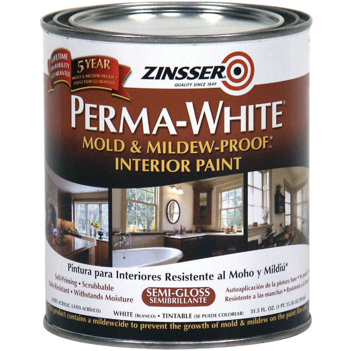 INT S/G WHT MILDEW PAINT - 2754 by Rustoleum
