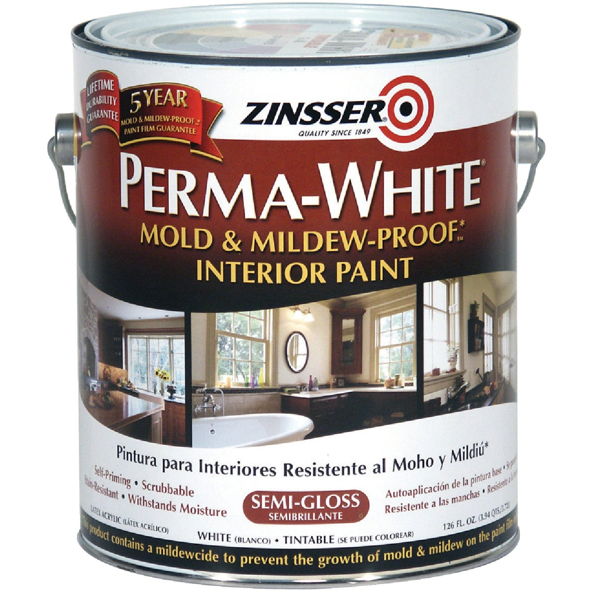 INT S/G WHT MILDEW PAINT - 2761 by Rustoleum